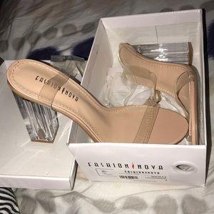 Transparent fashion nova heels